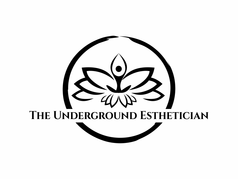 The Underground Esthetician.........it's deeper than just a facial logo design by Greenlight