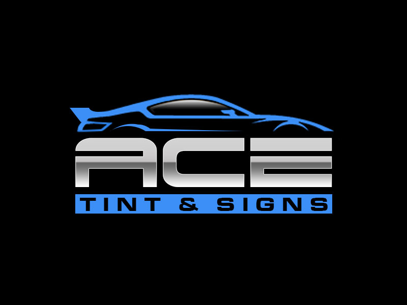 Ace  TINT  & SIGNS logo design by kunejo