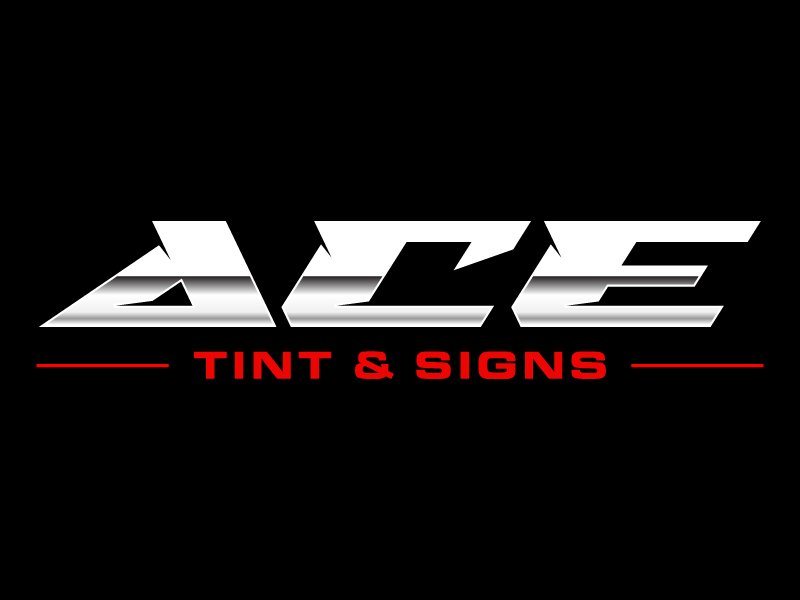 Ace  TINT  & SIGNS logo design by MUSANG