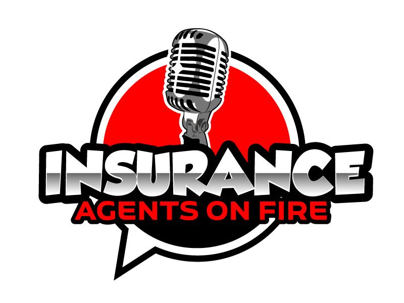 Insurance Agents On Fire logo design by ElonStark