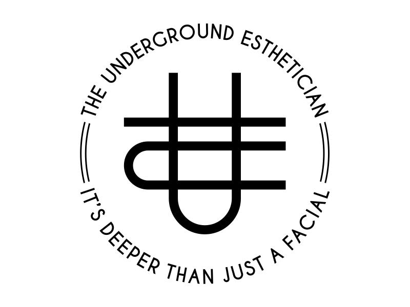 The Underground Esthetician.........it's deeper than just a facial logo design by cintoko
