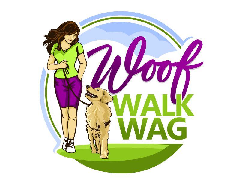 Woof Walk Wag logo design by veron