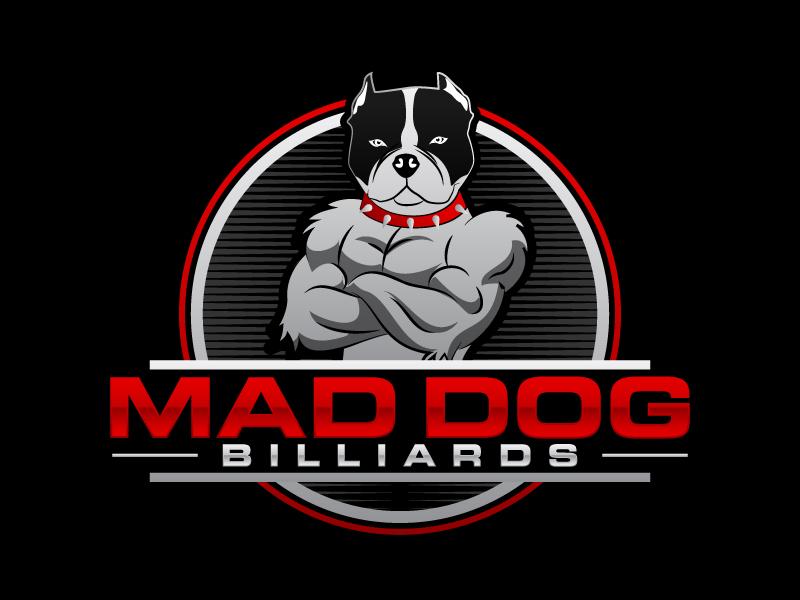 Mad Dog Billiards logo design by Kirito