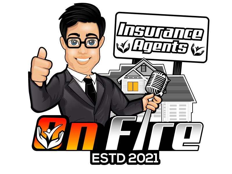 Insurance Agents On Fire logo design by Suvendu