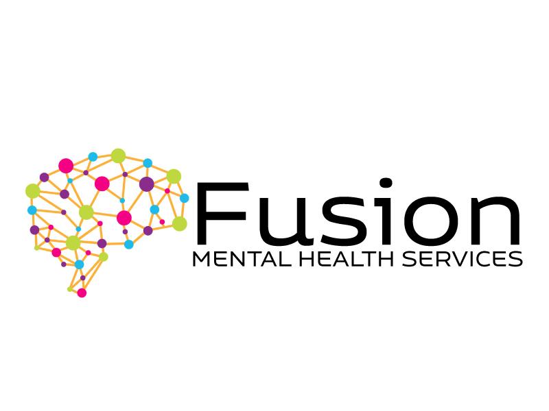 Fusion Mental Health Services logo design by ElonStark