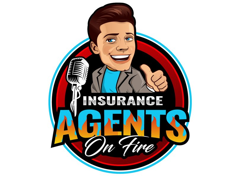 Insurance Agents On Fire logo design by DreamLogoDesign
