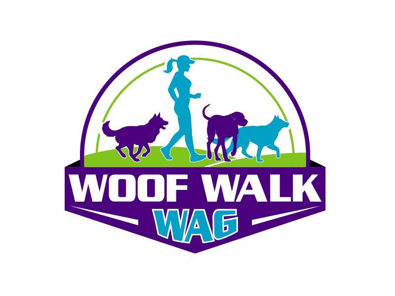 Woof Walk Wag logo design by axel182