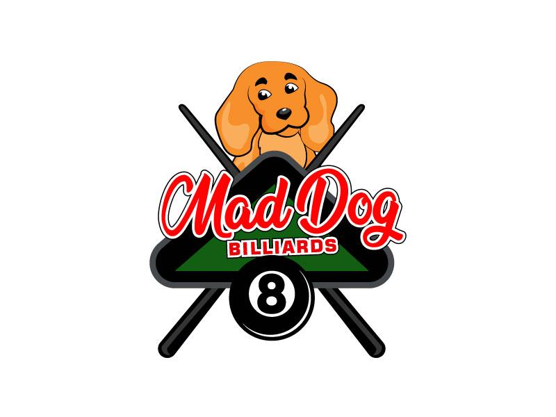 Mad Dog Billiards logo design by LogoInvent