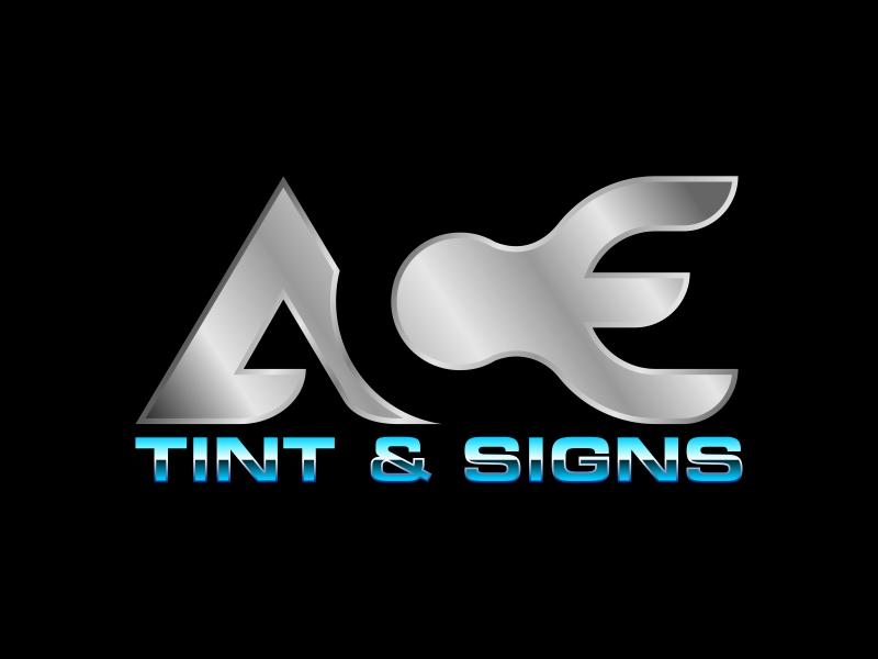 Ace  TINT  & SIGNS logo design by ekitessar