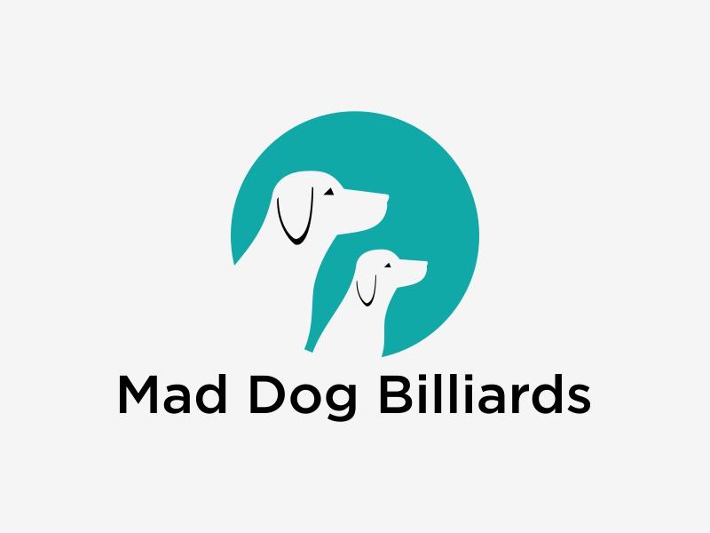 Mad Dog Billiards logo design by EkoBooM