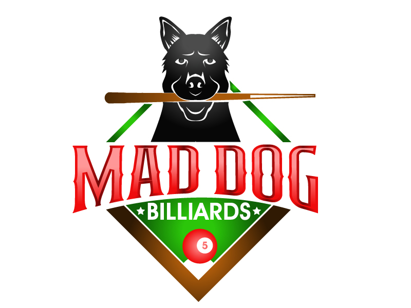 Mad Dog Billiards logo design by PMG