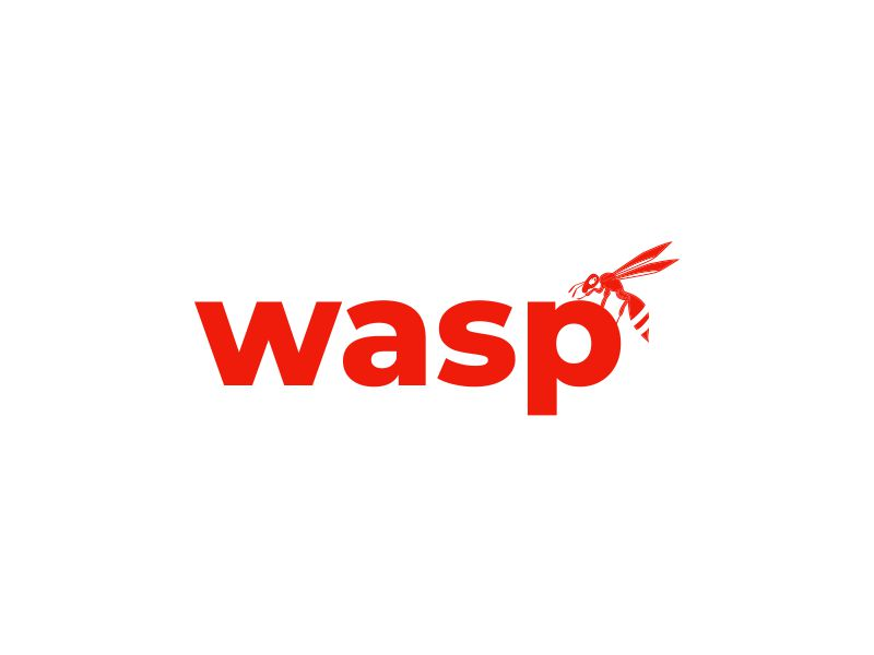 wasp logo design by Girly
