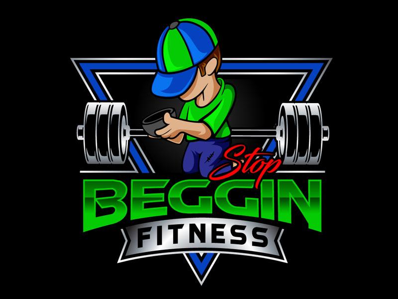 Stop Beggin Fitness Logo Design