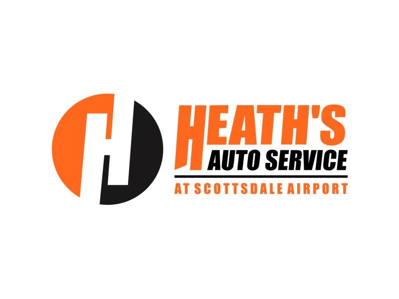 Heath's Auto at Scottsdale Airport logo design by Adundas