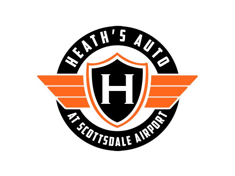 Heath's Auto at Scottsdale Airport logo design by kunejo