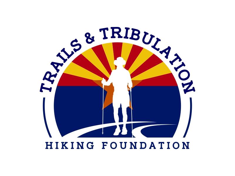 Trails & Tribulation Hiking Foundation logo design by ekitessar