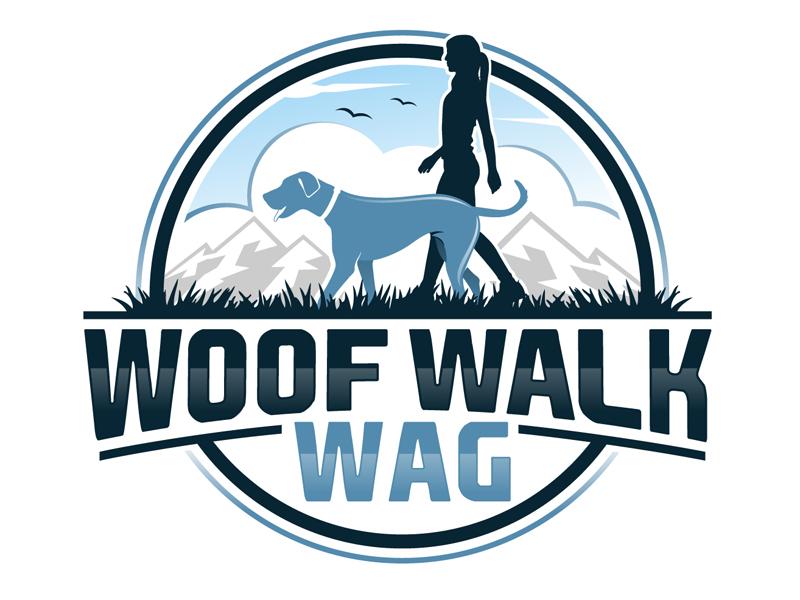 Woof Walk Wag logo design by DreamLogoDesign