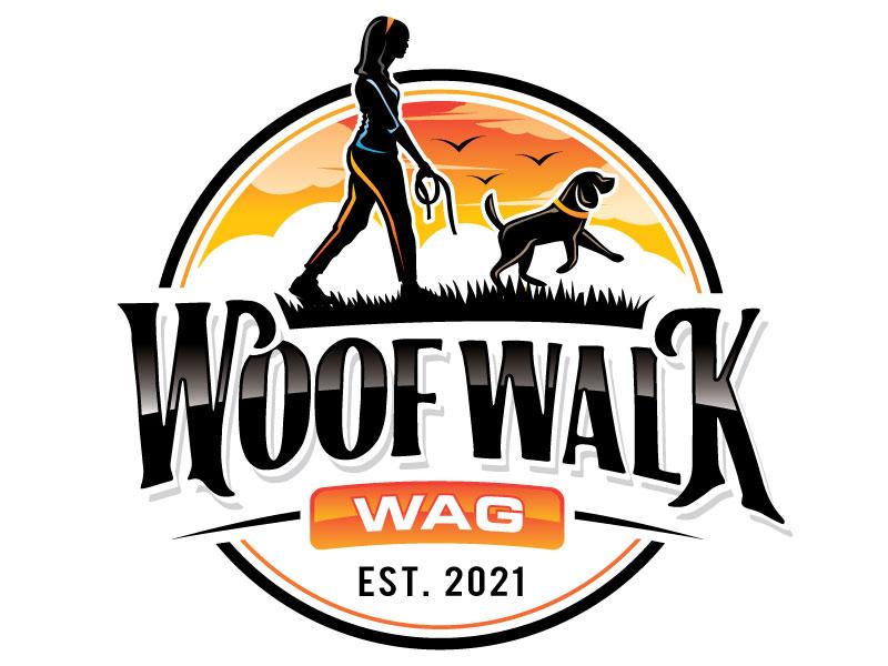 Woof Walk Wag logo design by REDCROW