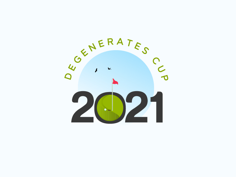 Degenerates Cup 2021 logo design by grea8design
