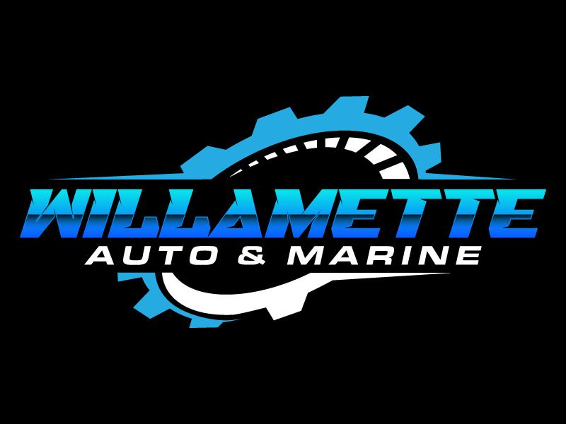 Willamette Auto & Marine logo design by daywalker