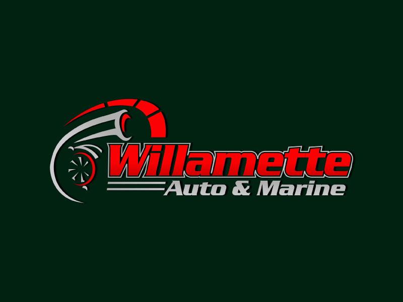 Willamette Auto & Marine logo design by harshikagraphics