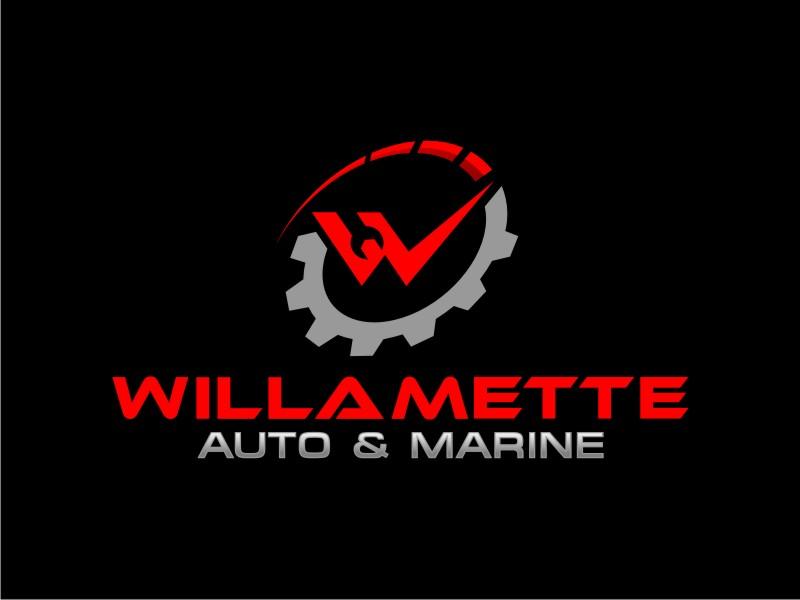 Willamette Auto & Marine logo design by mai