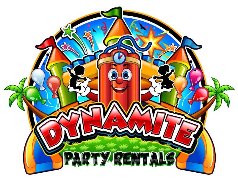Dynamite party rentals Logo Design