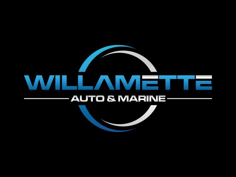 Willamette Auto & Marine logo design by rian38