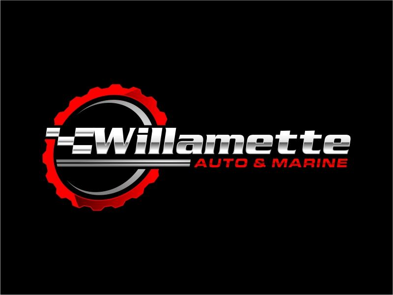 Willamette Auto & Marine logo design by mutafailan