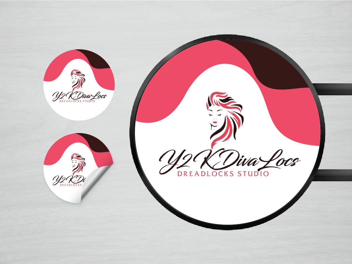 Y2KDivaLocs logo design by artbitin