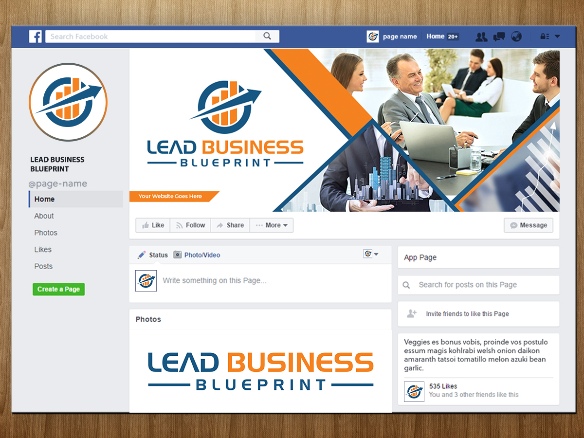 Lead Business Blueprint logo design by Masters Designs