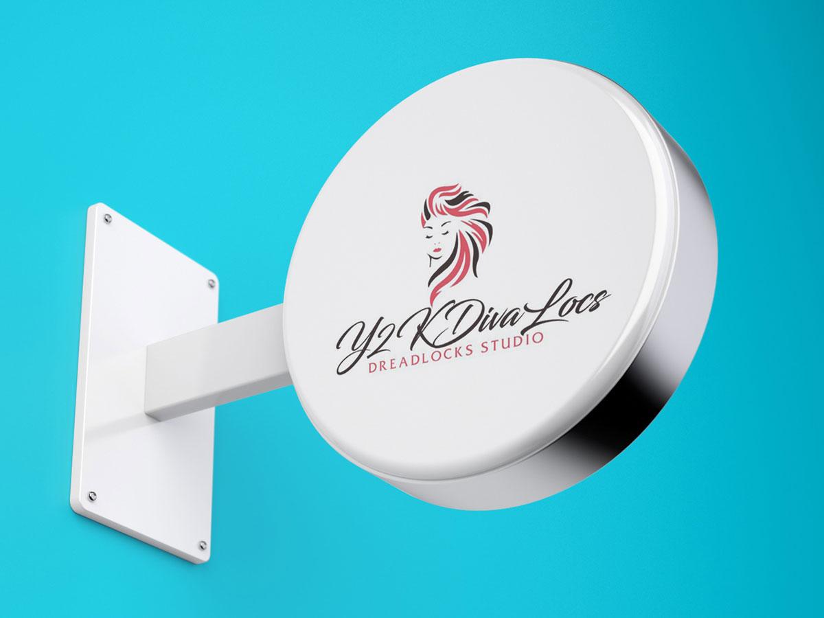 Y2KDivaLocs logo design by grea8design
