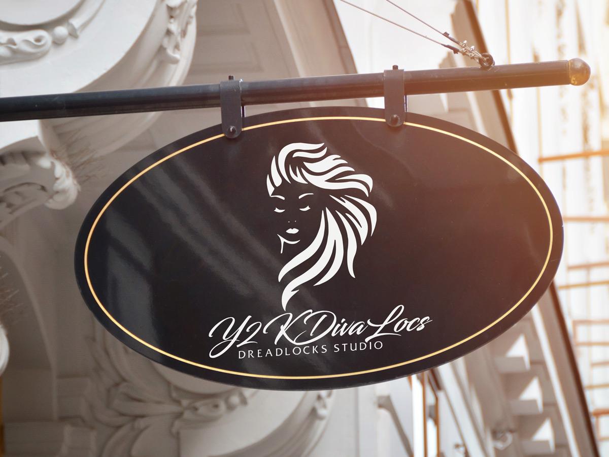 Y2KDivaLocs logo design by yondi