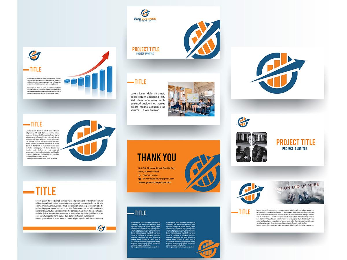 Lead Business Blueprint logo design by grea8design