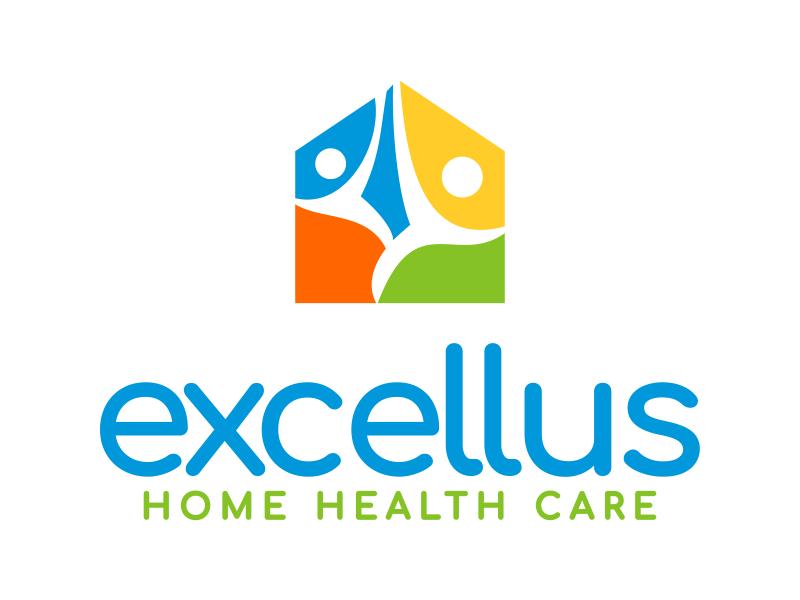 excellus home health care logo design by cikiyunn