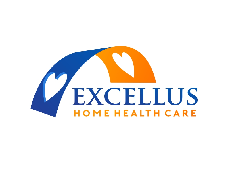 excellus home health care logo design by serprimero
