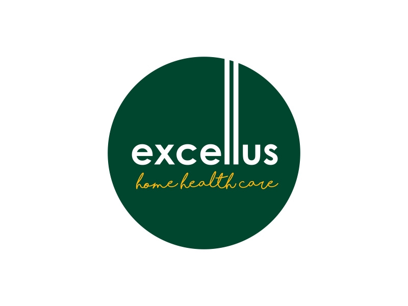 excellus home health care logo design by GassPoll