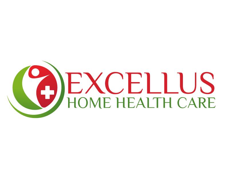 excellus home health care logo design by ElonStark
