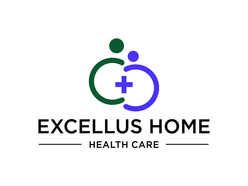 excellus home health care logo design by azizah