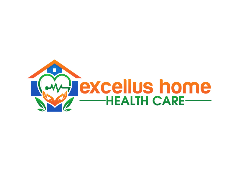 excellus home health care logo design by harshikagraphics