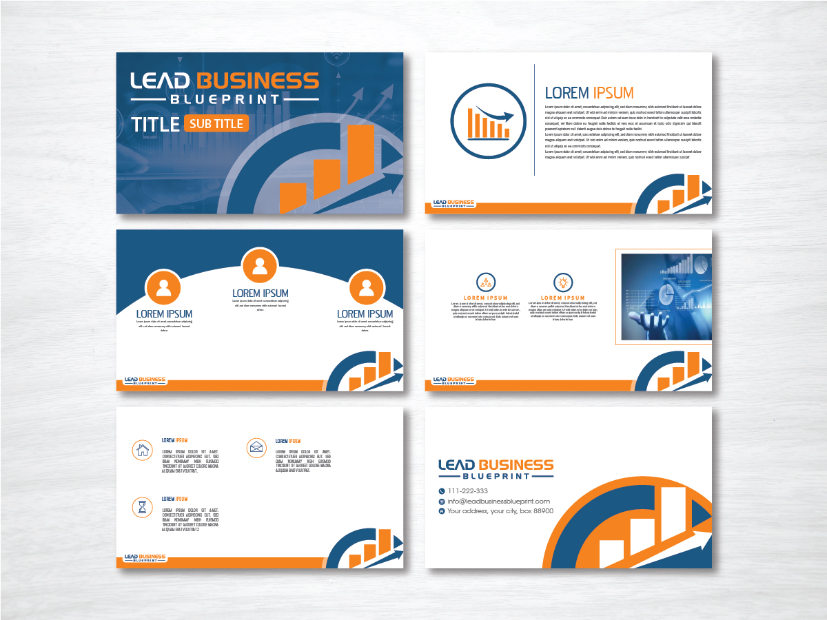 Lead Business Blueprint logo design by artbitin