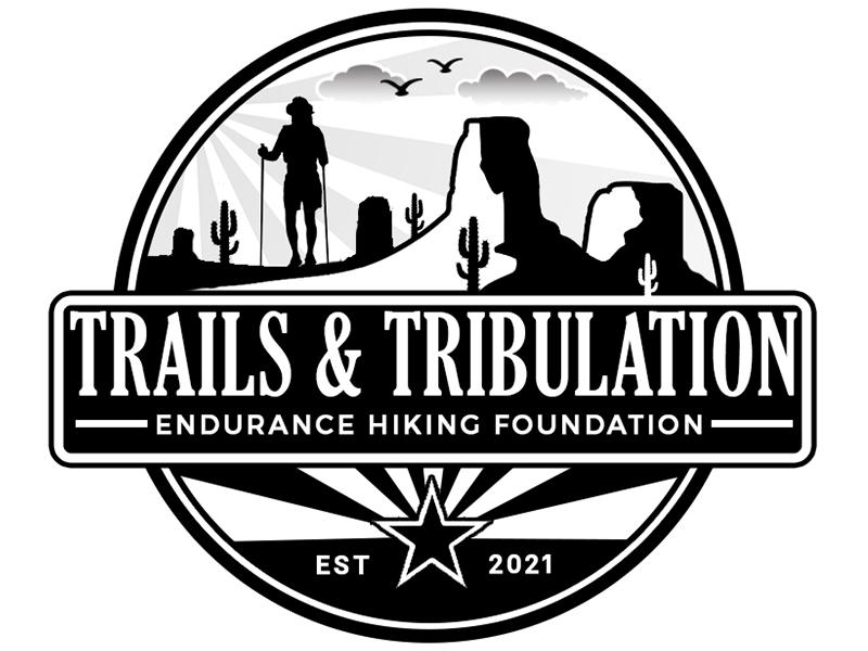 Trails & Tribulation Hiking Foundation logo design by PrimalGraphics