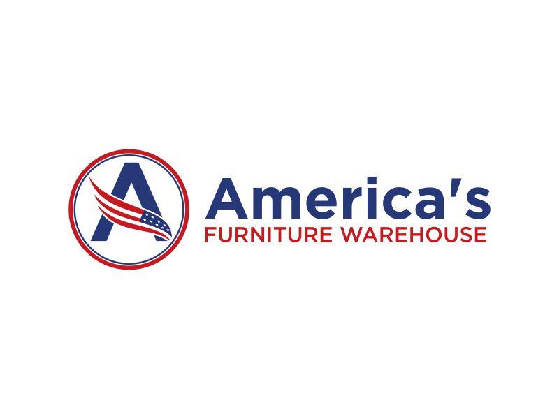 America's Furniture Warehouse logo design by Barkah