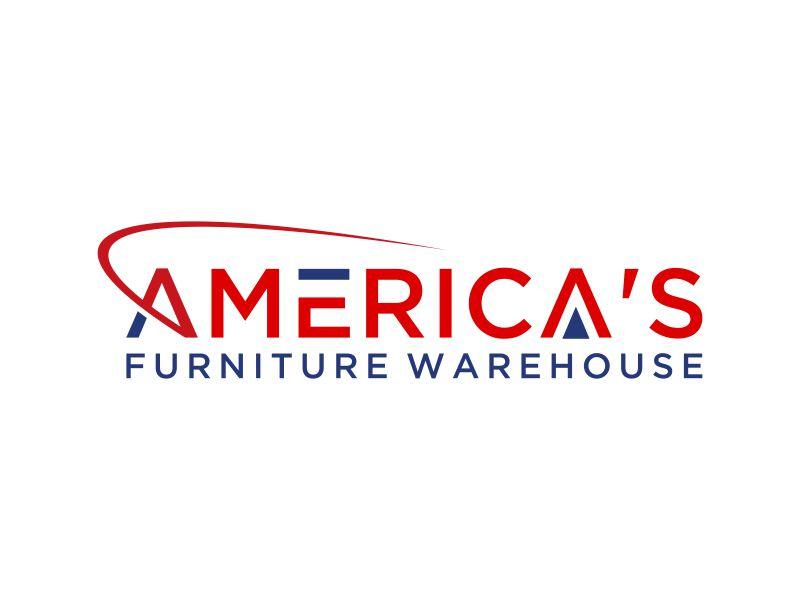 America's Furniture Warehouse logo design by mukleyRx