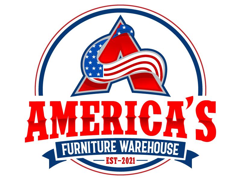 America's Furniture Warehouse logo design by LucidSketch
