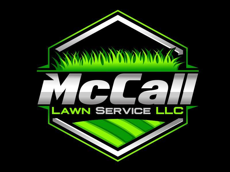 McCall Lawn Service LLC logo design by veron