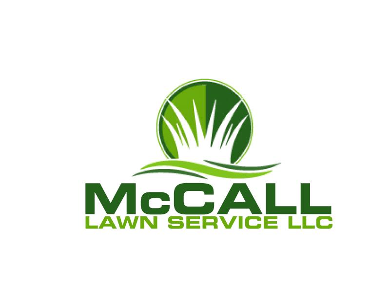 McCall Lawn Service LLC logo design by ElonStark