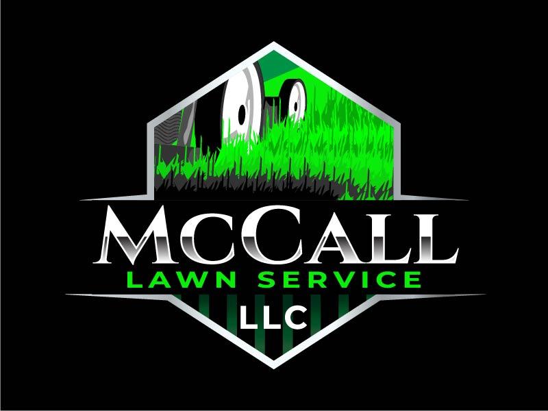 McCall Lawn Service LLC logo design by IanGAB
