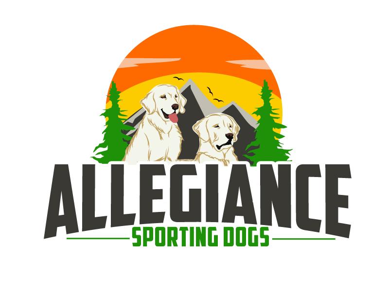 Allegiance Sporting Dogs logo design by ElonStark