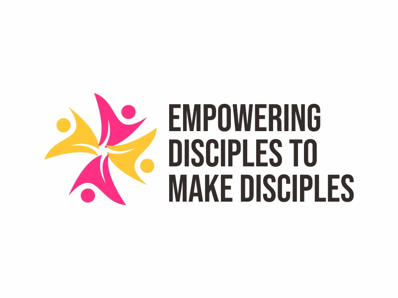 """Phrase included in  the logo: """"empowering disciples to make disciples"""" logo design by Greenlight"""